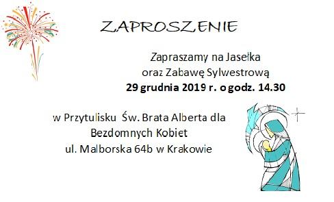 Jasełka oraz Zabawa Sylwestrowa w Przytulisku! Zapraszamy 29 XII :)