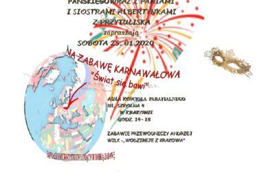 Zapraszamy na Zabawę Karnawałowa ;-)